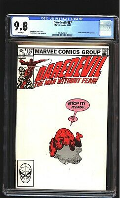 Daredevil 187 CGC 9.8 NM/MINT Black Widow Stick Frank Miller cover Marvel 1982