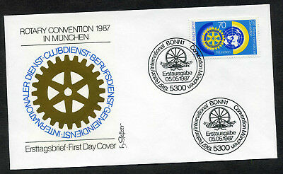BRD 1987 FDC Mi-Nr. 1327: Weltkongress des Internationalen Rotary-Clubs, München