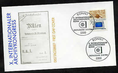 BRD 1984 FDC Mi-Nr. 1224: Internationaler Archivkongress, Bonn