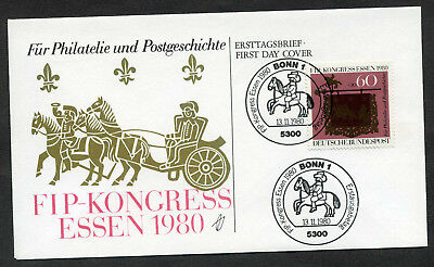 BRD 1980 FDC Mi-Nr. 1065: Kongress des Int. Philatelistenverbandes (FIP), Essen