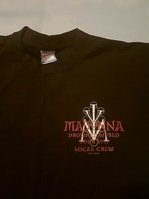 Madonna Drowned World Tour Crew Member T - Shirt Boy Toy Inc 2001 * Brand New
