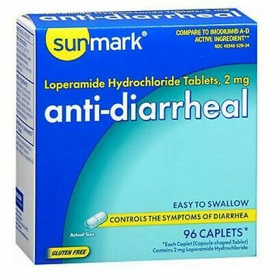Anti-Diarrheal 96 COUNT CAPLETS 2mg by Sunmark
