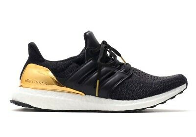 6d9506240 Adidas Ultraboost LTD  BB3929  Men Running Shoes Black Metallic Gold Size  7.5