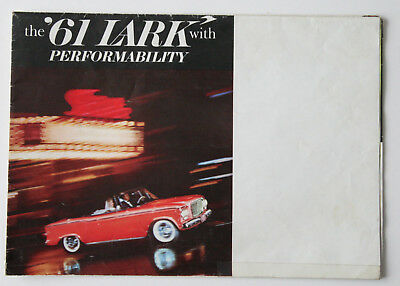 STUDEBAKER LARK 1961 brochure sales catalog - English - Canadian MARKET