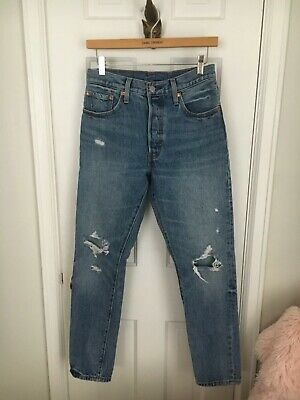 4aa640bc LEVI´S 501 SKINNY Jeans Old Hangouts High Rise Destroyed Look Size ...