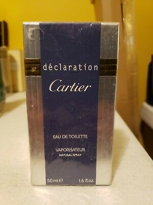Men's Vintage Original Cartier Declaration EAU DE TOILETTE 50 ML 1.6 FL OZ NEW