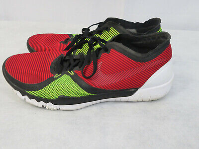 6a2d64386f86c Nike Free Trainer 3.0 Mens Running Shoes 749361 066 Red Neon White Size 10.5