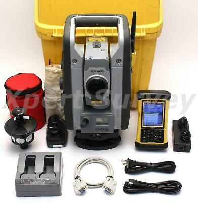 "Trimble RTS555 5"" DR Std 2.4 GHz Robotic Total Station w/ Nomad Controller LM80"
