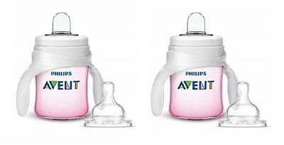 Philips Avent My Natural Trainer Transition Cup, 4m+ 5 oz Pink SCF262/04 (2 Pk)