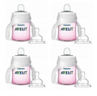 Philips Avent My Natural Trainer Transition Cup, 4m+ 5 oz Pink SCF262/04 (4 Pk)