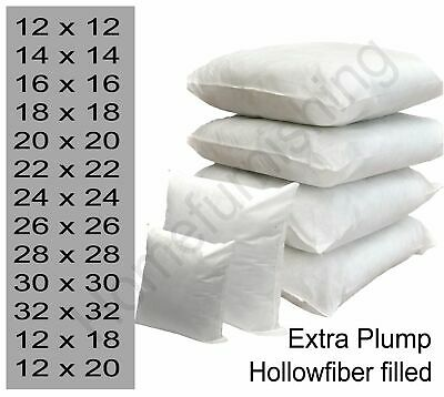 Filled Cushion Inner Inserts Pads Large Hollowfibre 18 22 24 26 28 30 inch cover
