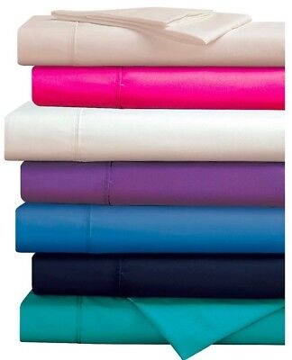 [New Arrival]280 Thread Count Percale Plain Dyed Sheet Set