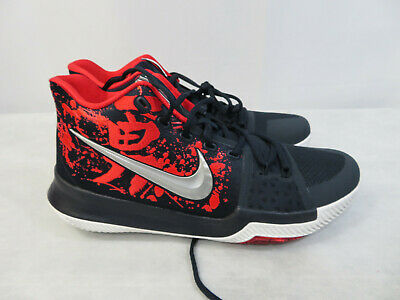 5768422361e5 Nike Kyrie 3 Samurai Release Basketball Shoes Navy Red 852395-900 Size 11  New