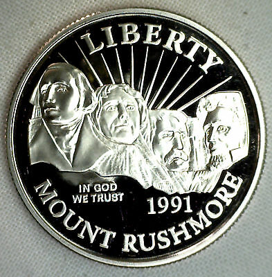 1991 Mount Rushmore Half Dollar Commemorative Proof 50c COIN ONLY 50 Cents