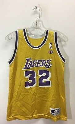 ee29d0870fa Vintage Magic Johnson  32 Los Angeles Lakers NBA Champion Jersey Sz Large  14-16