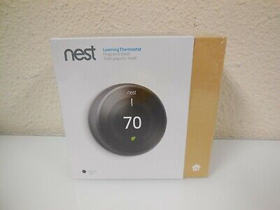 New Nest 3rd Generation Learning Programmable Thermostat - Black (T3016US)