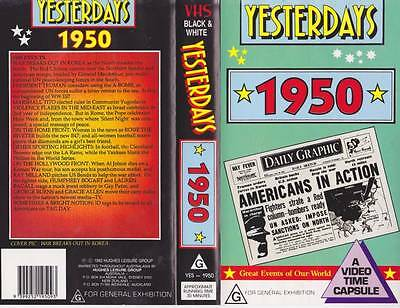Yesterdays  1950 Vhs Video Pal~ Very  Rare Find~