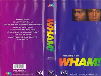 Wham The Best Of Vhs Pal Video A Rare Find