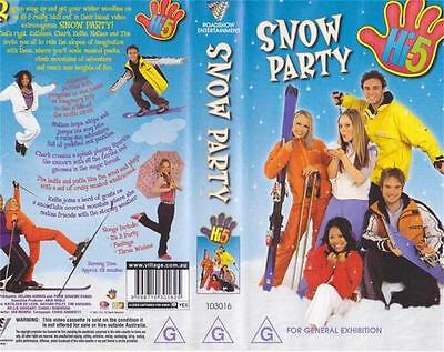 Hi 5  Snow Party Vhs Video Pal~ A Rare Find In Excellent Condition