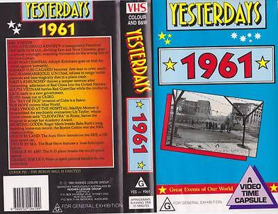 Yesterdays  1961 Vhs Video Pal~ Very  Rare Find~