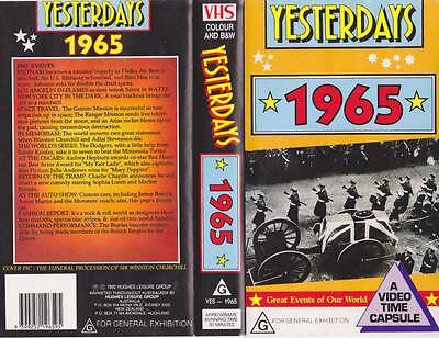 Yesterdays  1965 Vhs Video Pal~ Very  Rare Find~