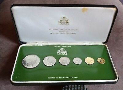 1976 Guyana 6 coin proof set