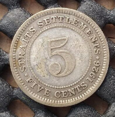 1926 British Straits Settlement 5 cent km# 36  - a great space filler