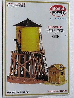 MODEL POWER 428 HO scale model kit WATER TANK AND SHED NIB