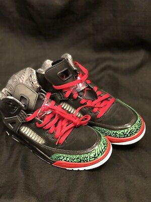 NEW NIKE AIR Jordan Spizike Black-Red-Green Sz 8.5  315371-026 ... fe9c50a10