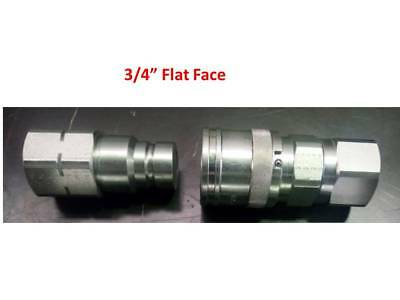 "Flat Face Couplers Hydraulic 3/4"" Bspp Pairs Italian Made Free Post Australia !"