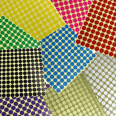 Round Coloured Dots Stickers Circle Paper Label Sticky Adhesive Spot 264 x 13mm