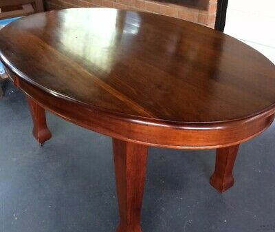 Antique / Vintage Solid French Polished Wood Dining Table