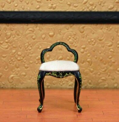 """Mahogany Vanity Chair MUSEUM QUALITY DOLLHOUSE FURNITURE 1:12 or 1"""" Scale BESPAQ"""