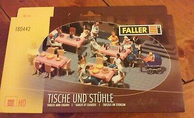Ho scale Faller Tables And Chairs Kit # 180442