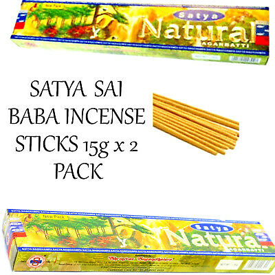 SATYA SAI BABA INCENSE STICKS NATURAL 15g x 2 PACK Home Fragrance Insence Scent