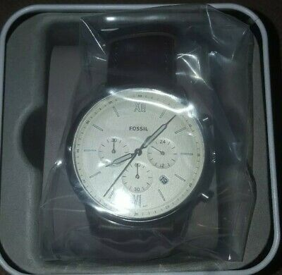 cadea331094 FOSSIL MEN NEUTRA Chronograph Brown Leather Watch FS5380 NWT ...