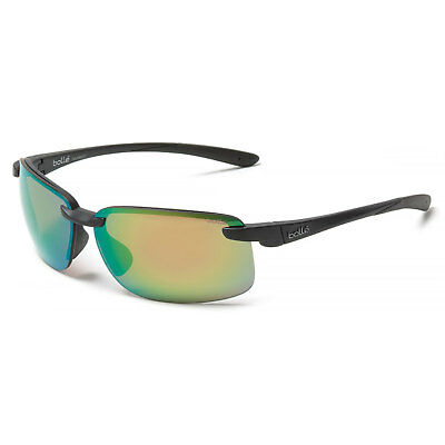 6364c464a90 BOLLE FLYAIR SUNGLASSES 12259 Polarized Matte Black with Brown Emerald Lens