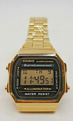 Casio Classic Digital Watch A168 black Gold  Design Unisex Retro Vintage Melbour