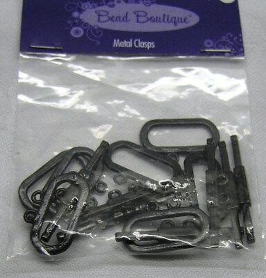 Clasp, Blue Moon Beads®, toggle, gunmetal-finished pewter, black x 6