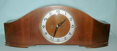 """Vintage 23"""" Wood Cased Mantel Clock With Chime-VG Cosmetic-Won't Wind Or Work"""