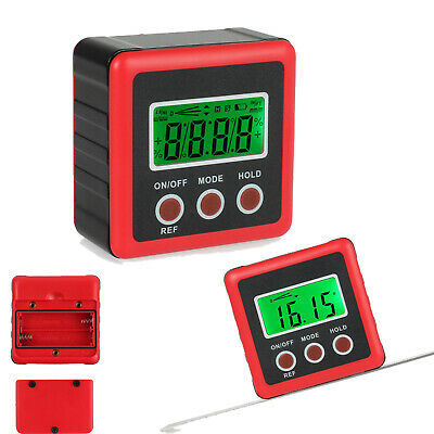 LCD Digital Bevel Gauge 4*90° Level Box Protractor Inclinometer Angle Finder US