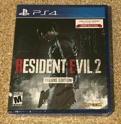 Neuf Resident Evil 2 Édition Deluxe Playstation 4 Ps4 Rare Vendu Capcom 2019
