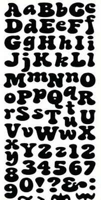 Bubbles font die - uppercase, lowercase, etc - for use in most cutting systems