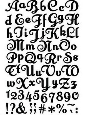 Elegance font die - uppercase, lowercase, etc - for use in most cutting systems