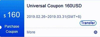 $160 US Bitmain Coupon for Purchase Antminer S15 T15 S11 DR5 Exp March 31/2019