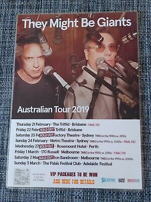 They Might Be Giants - Australia Tour 2019 - Laminated Promo Poster