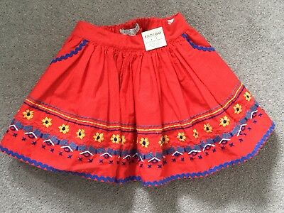MARKS AND SPENCER, AGE 12-18 Months. GORGEOUS SKIRT, WITH EMBROIDERED HEMLINE.