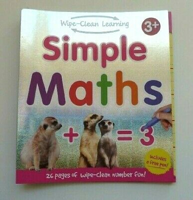Preschool Simple Maths Early Learning Wipe & clean Book Ages 3+ New Gift Igloo