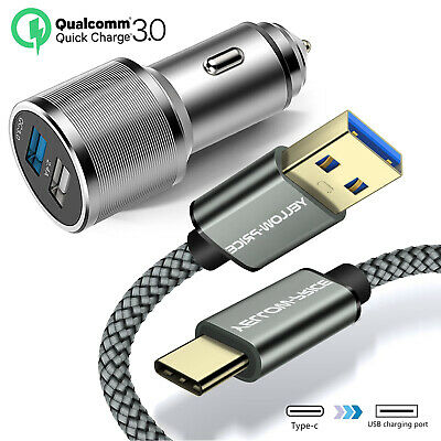 Premium OEM Samsung S8 S9 Plus Durable Nylon Fast Type C Data Car Charger Cable