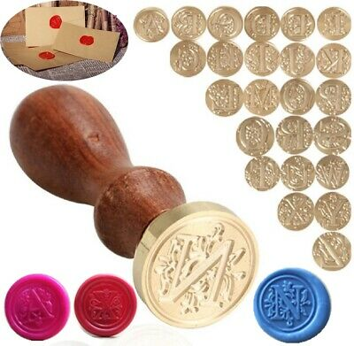 Classic Alphabet Initial Sealing Wax Seal Stamp Invitations Logo Letter A-Z Tool